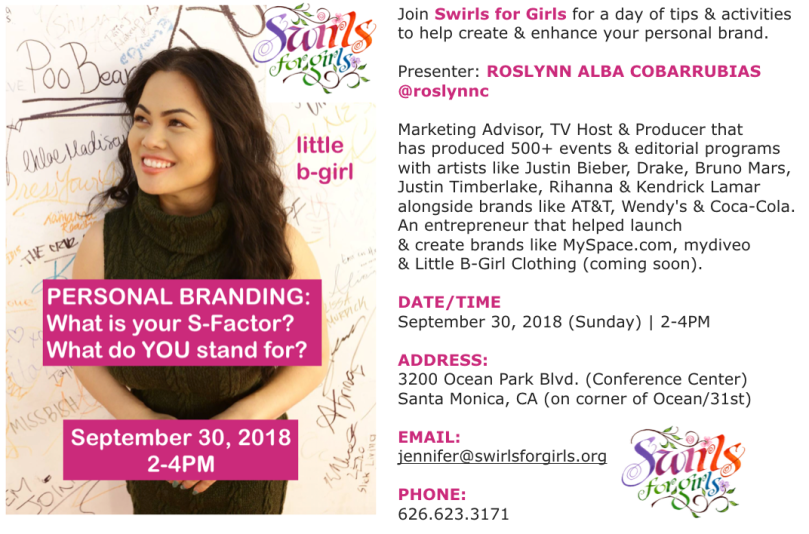 Swirls For Girls Branding Event
